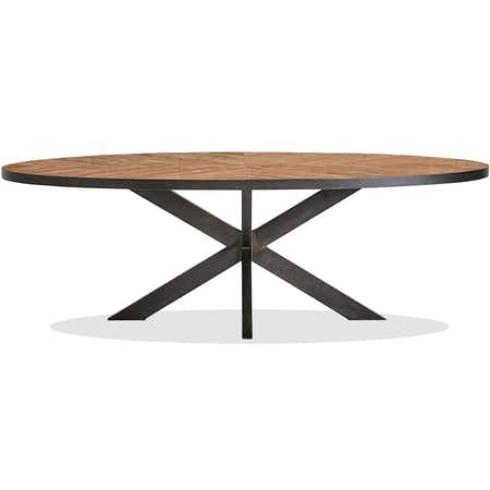 La table ovale pied central HERACLES