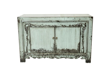 Le buffet chinois 2 portes turquoise MEUBLES CHINOIS